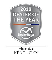 2018 Dealer Rater Honda Dealer Of The Year Award | Honda World of Louisville, KY