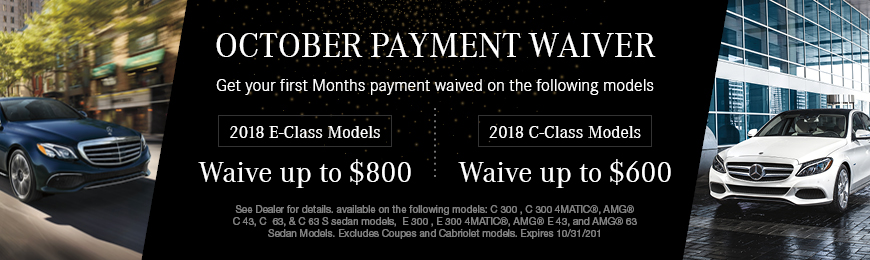 October Payment Waiver